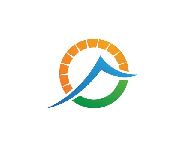 Modèle de logo de montagnes vecteur