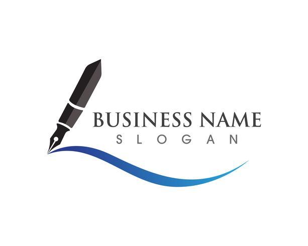 stylo Logo modèle entreprise d'illustration vectorielle vecteur