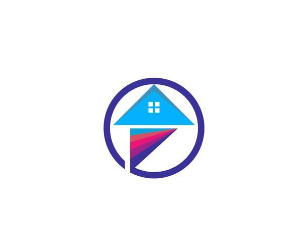 peinture logo maison d'affaires vecteur