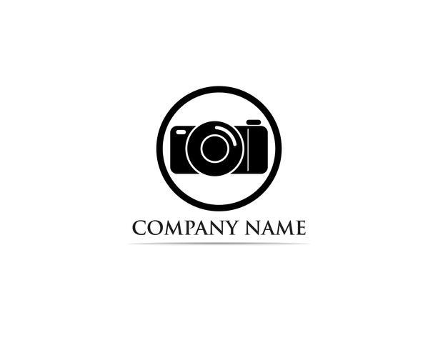 Photographie Logo Vector illustrator noir