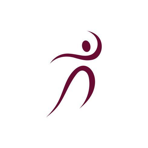 Signe de logo de personnage humain vecteur