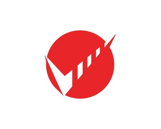 Modèle d'application logo et symboles de la finance d'entreprise vecteur
