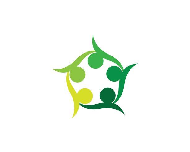 Logo et symboles du groupe de la communauté Star vecteur