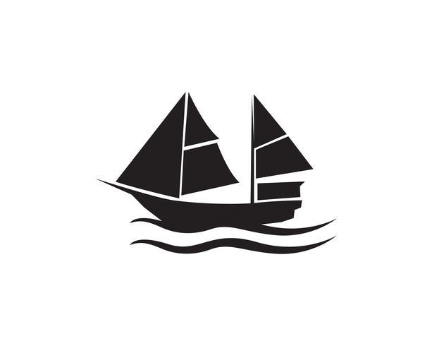 Silhouette de navire de croisière océan simple vecteur