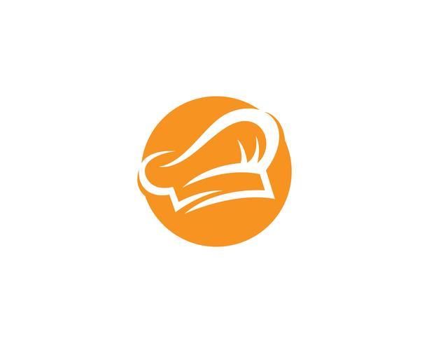 Hat chef logo et symboles vectoriels vecteur