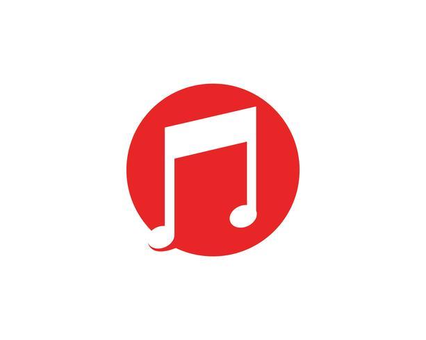 Note de musique icône vecteur