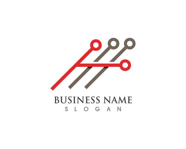 Logo d'entreprise finance et symbole vecteur