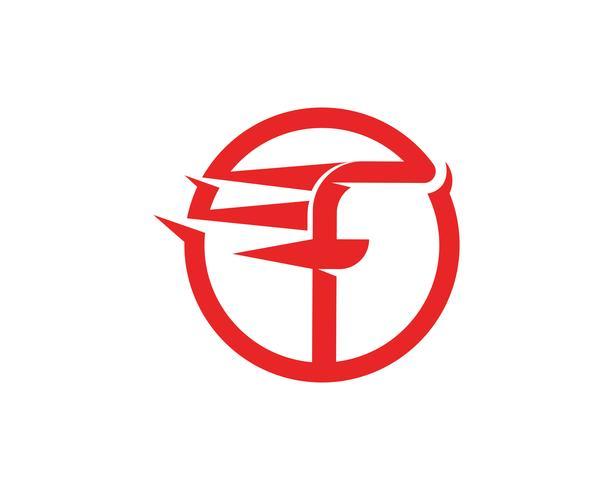 F Logo symboles Template vector icon illustration design