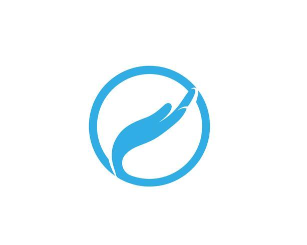 Icône de vecteur pour le soin des mains Logo Template Symboles commerciaux