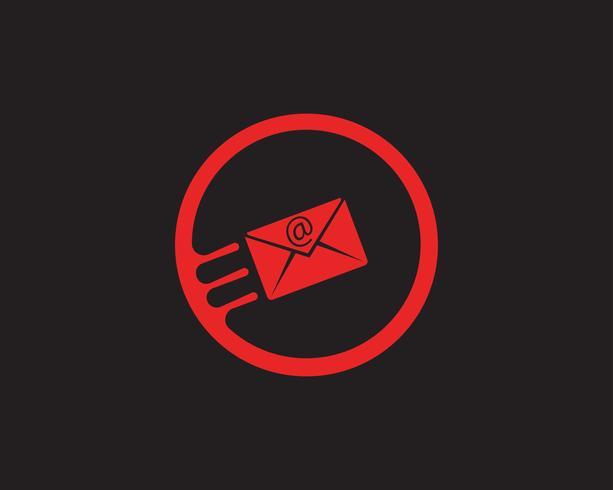 Envoyer un mail Logo Fast Cloud Design Template vecteur