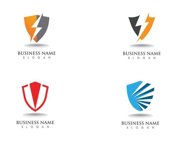 Bouclier garde logo design vecteur