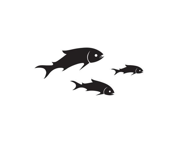 poisson vecteur silhouette modèle saumon noir