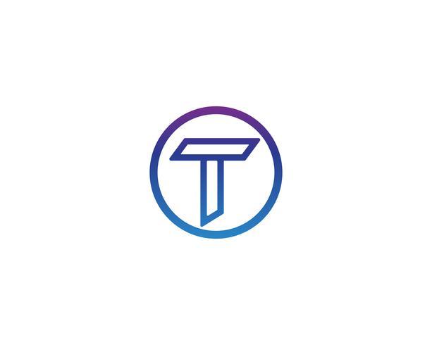 T lettres logo et symboles modèle app icônes vecteur