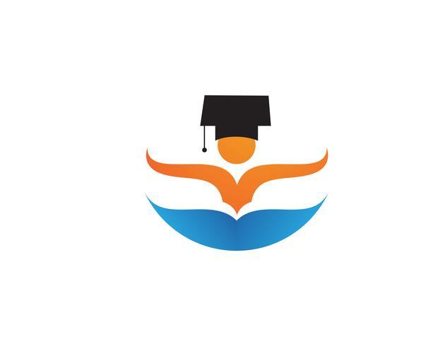 Symboles du logo Education people vecteur