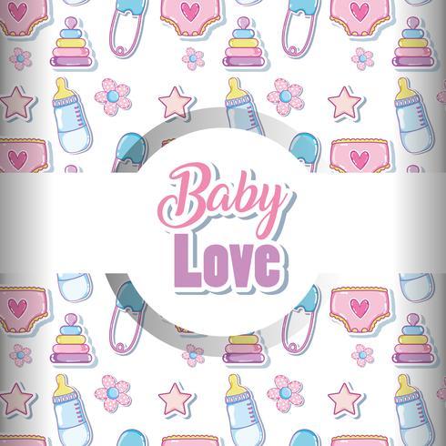 Fond d'amour bébé vecteur