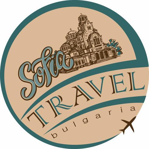 Voyage. Bulgarie. Sofia. Esquisser. La cathédrale de Saint Alexandre Nevski. Industrie du tourisme. Vacances. Vecteur. vecteur