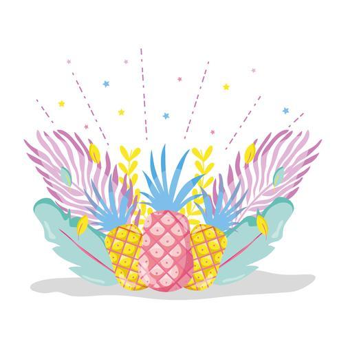 Ananas Punchy Pastel vecteur