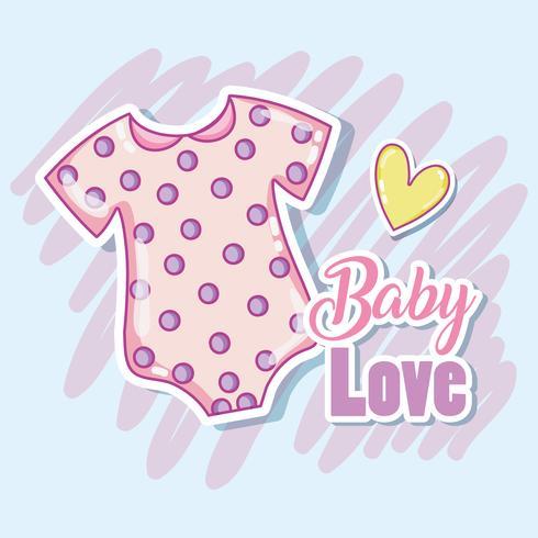 Vêtements de bébé mignon vecteur