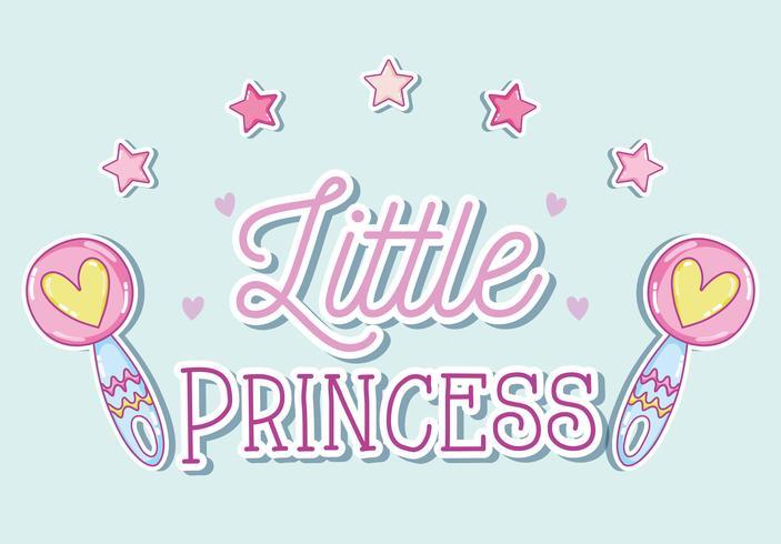 Petite princesse dessins animés mignons vecteur
