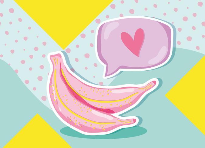 Bananes Punchy Pastel vecteur