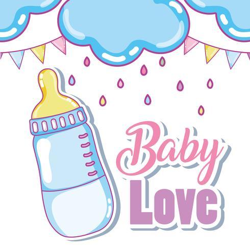 Carte mignonne d'amour de bébé vecteur