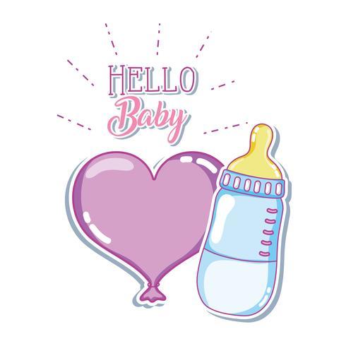 Bonjour bébé vecteur