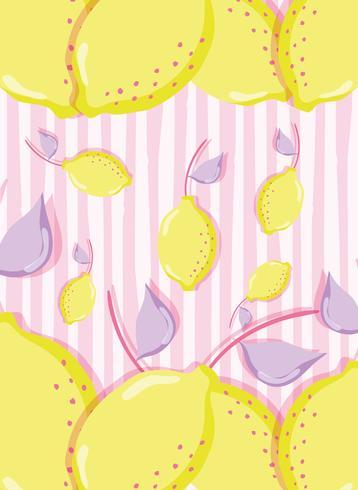 Citron punchy pastel vecteur