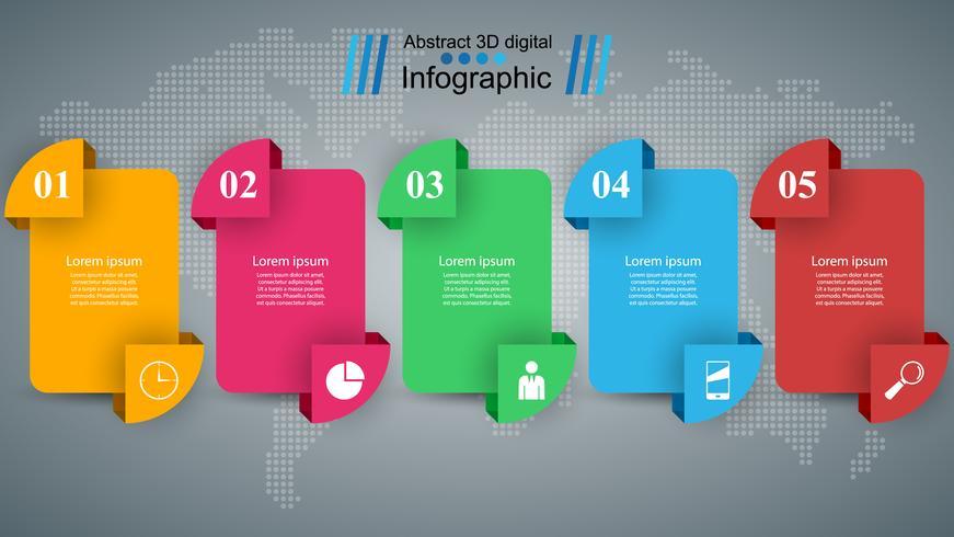 Style origami entreprise infographie illustration vectorielle. vecteur