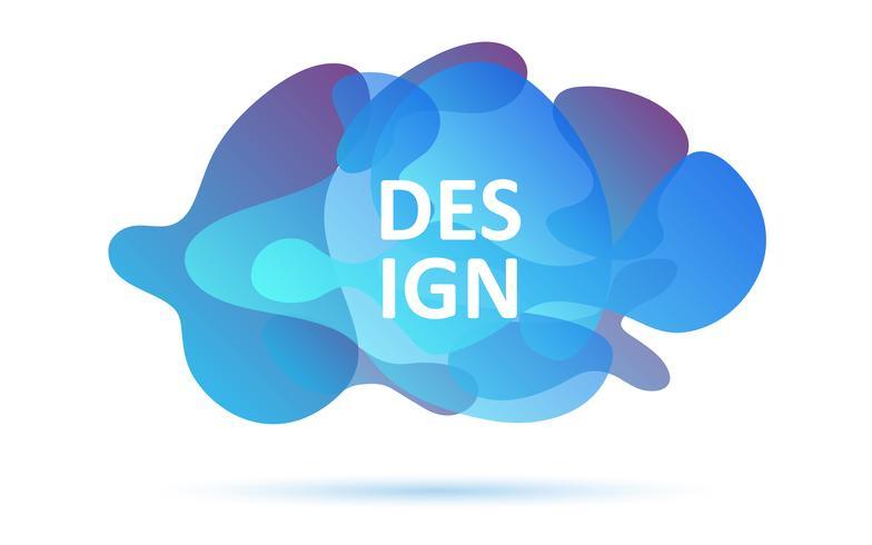 Formes dynamiques, couleurs bleues, élément graphique moderne abstrait vecteur