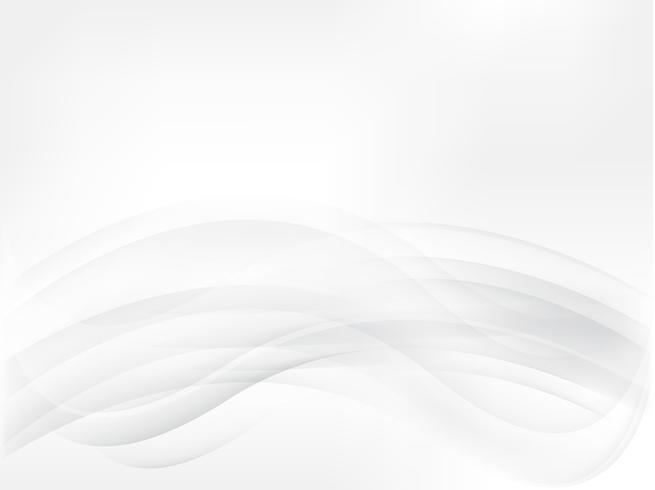 Vagues de fond gris lisse abstraite vecteur