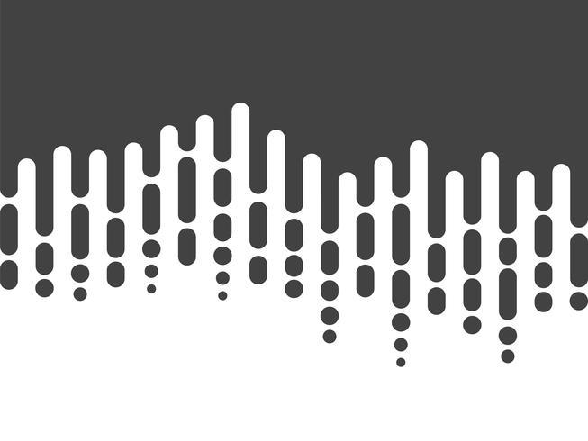 Chute de lignes arrondies irrégulières noires et blanches dans le style des Mentis vecteur