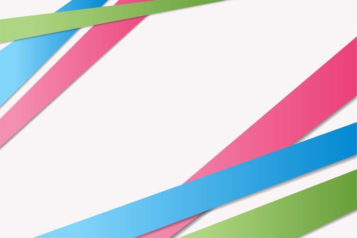 Rayures vert, bleu, rose vif avec des ombres, abstrait vecteur