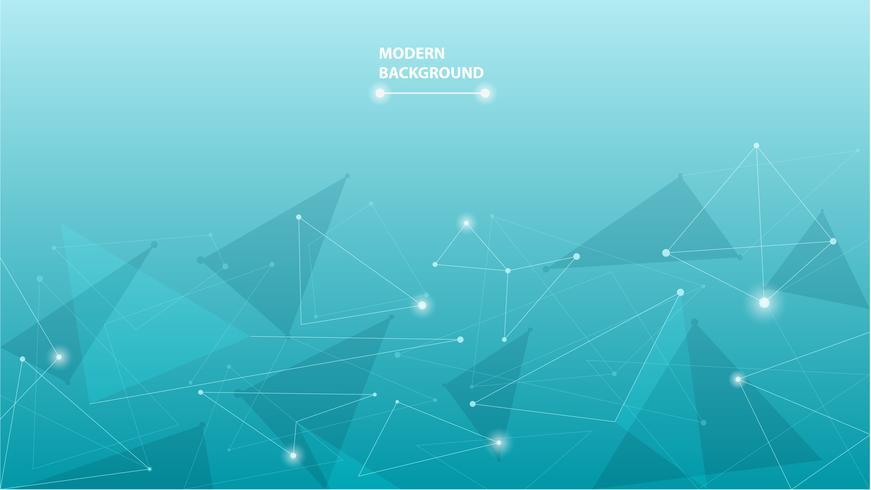 Fond abstrait polygonale géométrique bleu vecteur