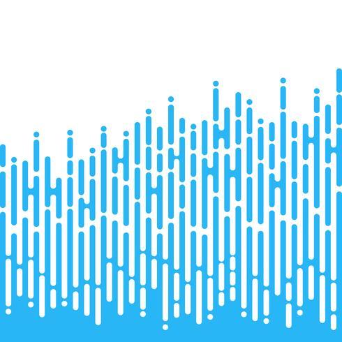 Lignes arrondies irrégulières bleues dans le style des Mentis vecteur