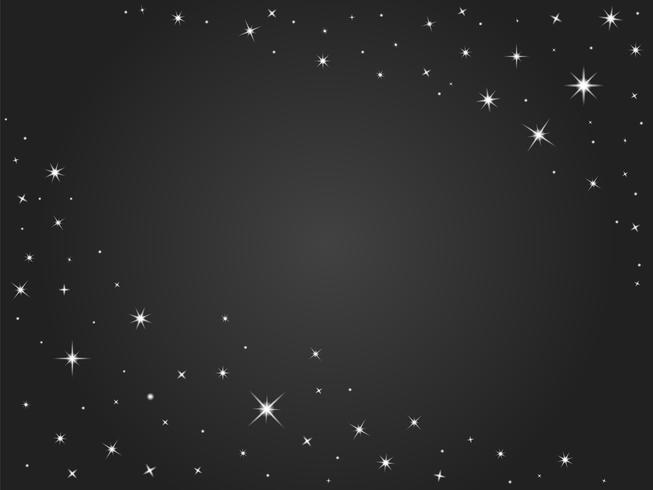 Étoiles de l'espace vectoriel fond, ciel nocturne noir