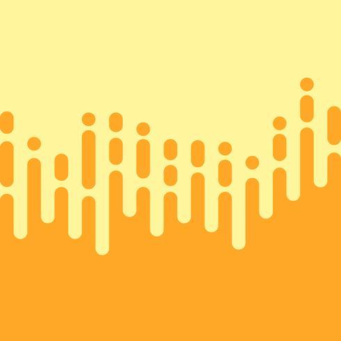 Lignes arrondies verticales irrégulières jaunes dans le style de la Mentis vecteur