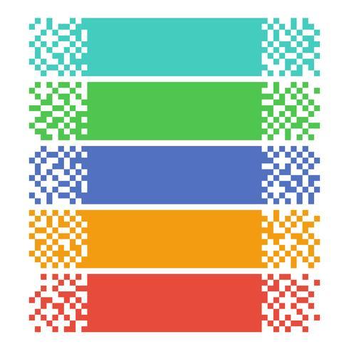 Bannières web pixel abstraites pour en-têtes vecteur