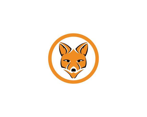 Fox logo illustrateur de modèle de vecteur