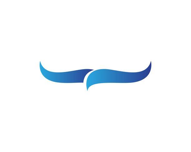 Logo de l'aile Falcon et illustrateur de vecteur de symbole