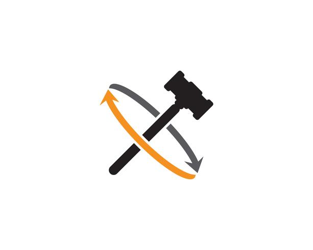 Cour marteau Vector illustration design illustration