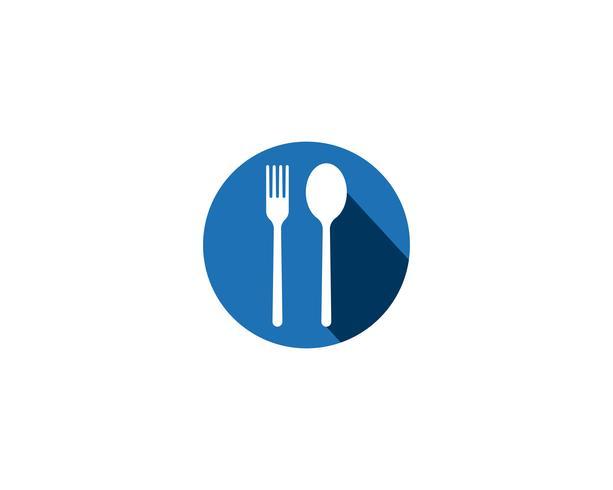 icônes fourchette et cuillère vecteur