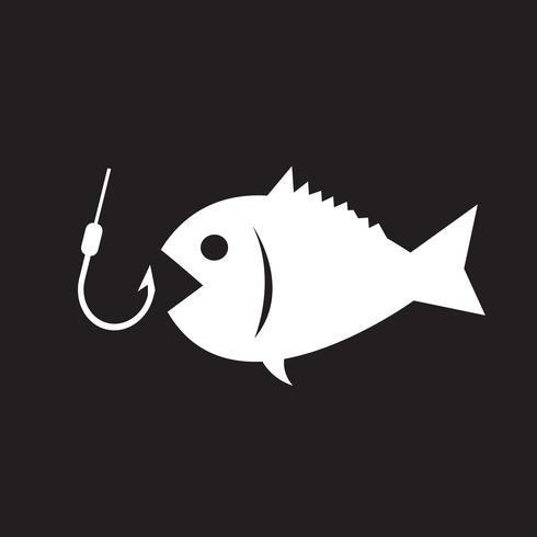 Signe symbole de pêche vecteur