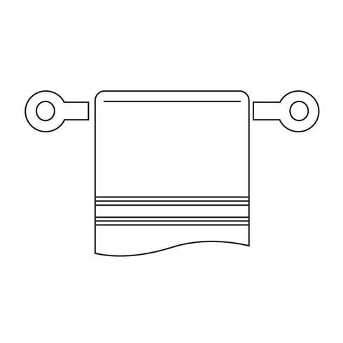 symbole de serviette icône vecteur