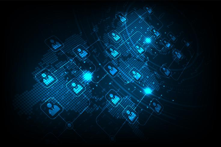 Les systèmes de communication sont disponibles dans le monde entier. vecteur