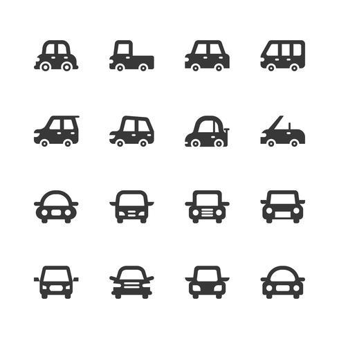 Jeu d'icônes de voiture. Illustration vectorielle vecteur