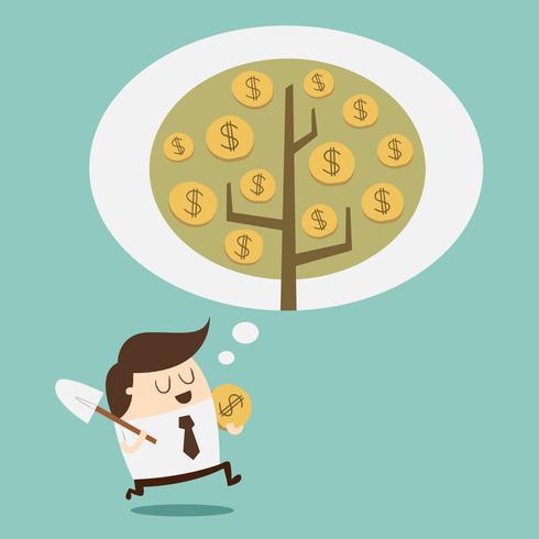 Concept de croissance de l'argent vecteur