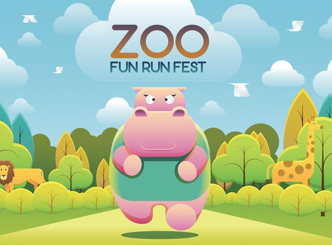 Zoo Fun Run vecteur