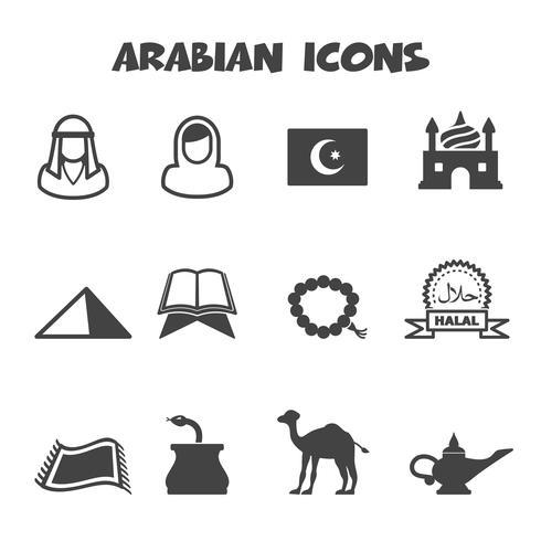 symbole d'icônes arabe vecteur