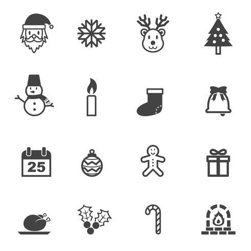 symbole d'icônes de Noël vecteur