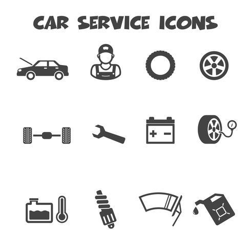 icônes de service de voiture vecteur